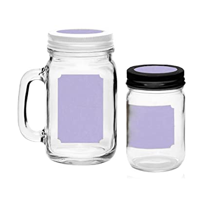 photo relating to Printable Mason Jar called Printable Blank Mason Jar Labels for 40 Jars and Lids, Lavender, for Inkjet and Laser Printers