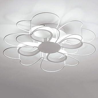 Moderno LED luz de techo hierro blanco acrílico flor ...