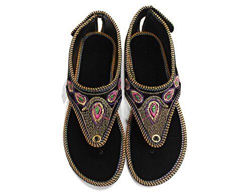 doré Sandales Step SS210 Noir pour Femme Style n qxgxUH