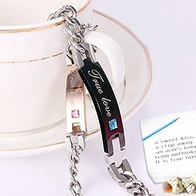 f03abf992f00 Carcasa diseño de pareja a juego de crear pulseras Valentines para 2   Amazon.es  Joyería