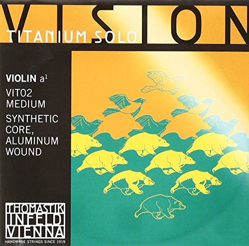 Thomastik-Infeld VIT02 Vision Titanium Solo Violin Strings, Single A String, 4/4 Size, Synthetic Core, Aluminum Wound ()