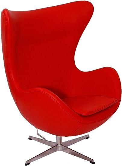 Egg Chair Arne Jacobsen Kopie.Amazon Com Mlf Reg Arne Jacobsen Egg Chair In Top Red Aniline