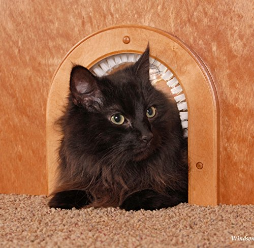 Cat Door - The Original Cathole Interior Pet Door - The Only Cat Door With A Cleaning / Grooming Brush. by CATHOLE (Image #5)