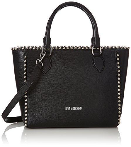 Love Moschino Borsa Vitello Pebble Nero, Shoppers y bolsos de hombro Mujer, Negro (Black), 9x25x36 cm (B x H T)