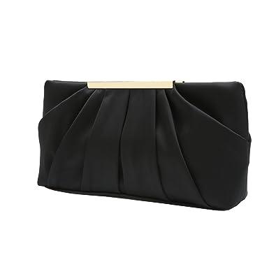f6a713372 Charming Tailor Clutch Evening Bag Elegant Pleated Satin Formal Handbag  Simple Classy Purse for Women (