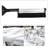 Culturemart Portable Extendable Telescoping Snow Brush Shovel Ice Scraper for Car Motorcycle Truck Car Accessories