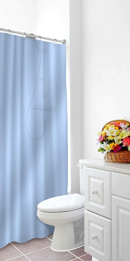 Home Expressions Heavy Duty Vinyl Magnetic Shower Curtain Liner 70x72 Apricot Blush