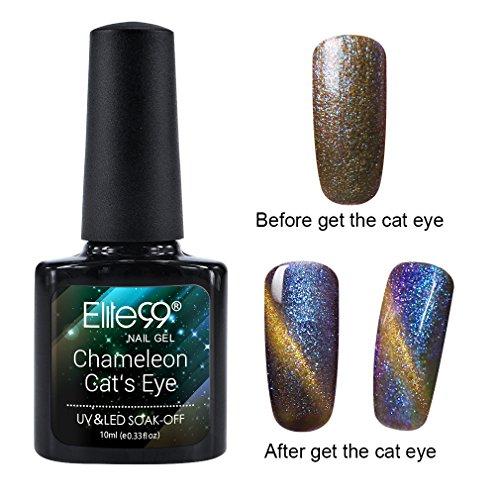 Elite99 Holographic Cat Eye Gel Nail Polish Soak Off UV LED