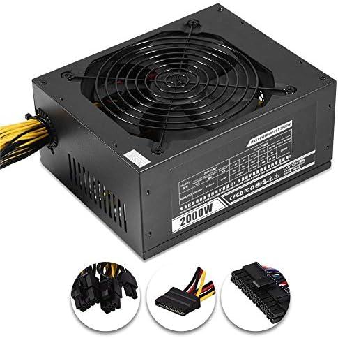 VELIHOME Modular Mining Power Supply,Mining PSU 2000W for 8 GPU ETH Rig Ethereum Miner Mining Machine