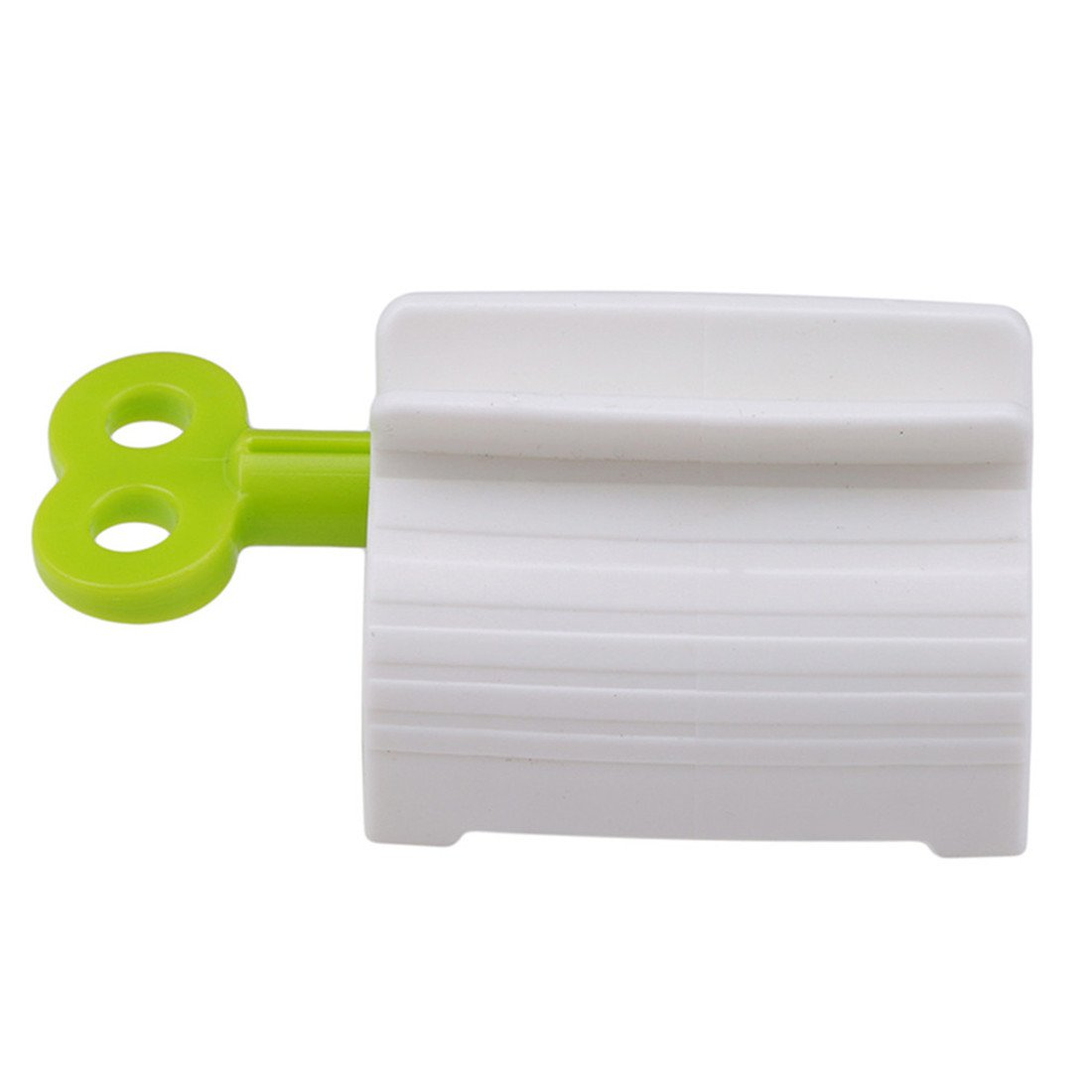 Edtoy 1PCS Creative Manual Rolling Toothpaste Dispenser Tube Squeezer Toothpaste Clip Holder (green)