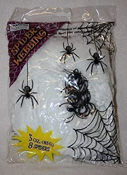540) halloween spiders WEBBING web with SPIDERS wall decor hanging