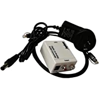 Easyday White SPDIF Toslink Optical Coaxial Digital to RCA Analog Audio Converter Adapter