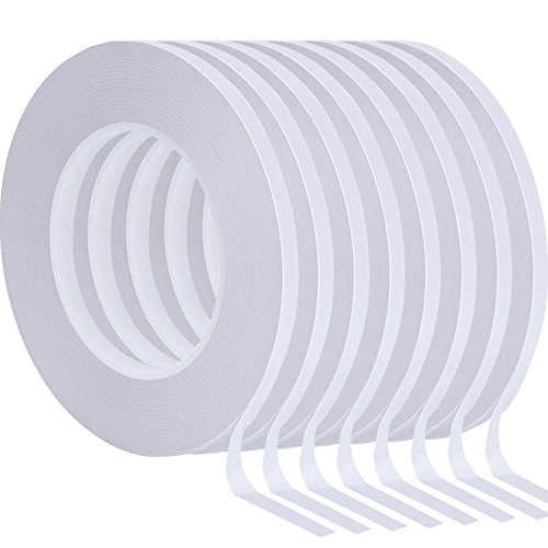 (Chuangdi 8 Rolls Double-Sided Tape Adhesive Sticky Tapes for Scrapbooking, Photos, Invitation Cards, Paper, DIY Crafts and Office School Stationery Supplies, Each Roll 25 Yards Long, 1/4 inch Wide)
