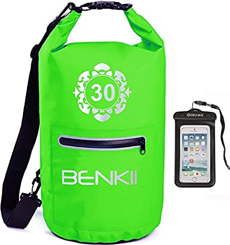Dry Bag Backpack- Waterproof Sack- Perfect For Hiking, Kayaking, Fishing, Boating, Rafting, Camping & More- Spacious & Comfy Travel Bag With Phone Case - Protects Your Valuables (Green, - Black Label Duffel