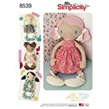 Simplicity Pattern 8539 15 WHIMSY DOLLS Stuffed Dolls and Clothes SEWING PATTERN