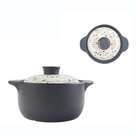 Olla de cerámica 3L Puede guisar Olla casera Olla cazuela ...