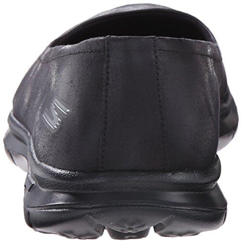 Go Walking Performance Black Suede Women's Challenge Step Shoe Skechers 1EvPwP