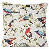 "14"" X 14"" Cushion Cover Pillowcase Cath Kidston Fabric Pattern Garden Bird"