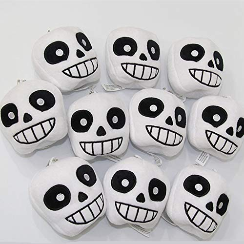 YOYOTOY 10Pcs/Lot Cartoon Undertale Plush Keychain Cute Soft Dolls Pendant 8 cm Kids Gift Must Have Toys 7 Year Old Girl Gifts The Favourite Superhero Party Supplies UNbox Game by YOYOTOY