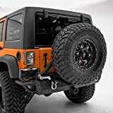 "GSI Rock Crawler Rear Bumper with Tire Carrier and 2""Hitc..."