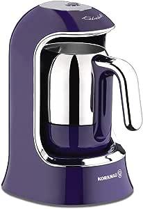 ماكينة تحضير القهوة التركية من كوركماز A860-01، 400 واط، لون بنفسجي - ماكينة تحضير قهوة من نوع بين تو كب