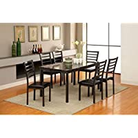 Furniture of America Katzman 60 in. Dining Table 7 Piece Set