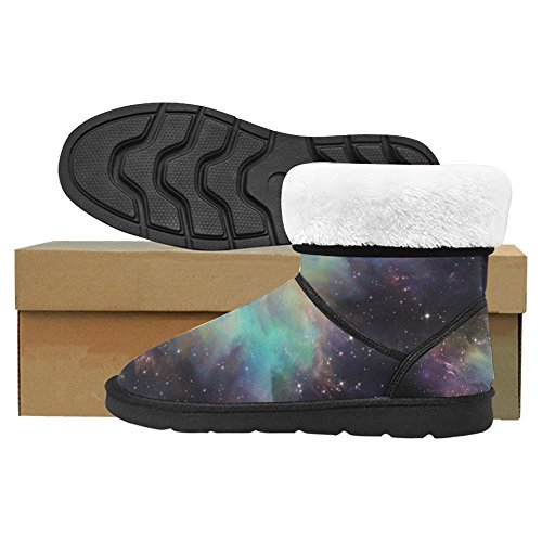 InterestPrint Womens Snow Boots Unique Designed Comfort Winter Boots Universe Space Multi 1 iLvMa