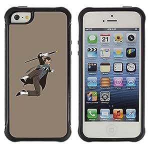 Suave TPU GEL Carcasa Funda Silicona Blando Estuche Caso de protección (para) Apple Iphone 5 / 5S / CECELL Phone case / / Super Powers Comic Cartoon Character Man /