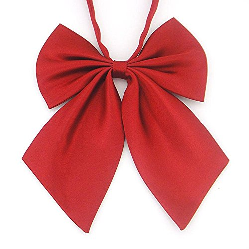 Japan Cosplay Noble School Student Girl Style Bow Tie Wine - Girls Tie Bow