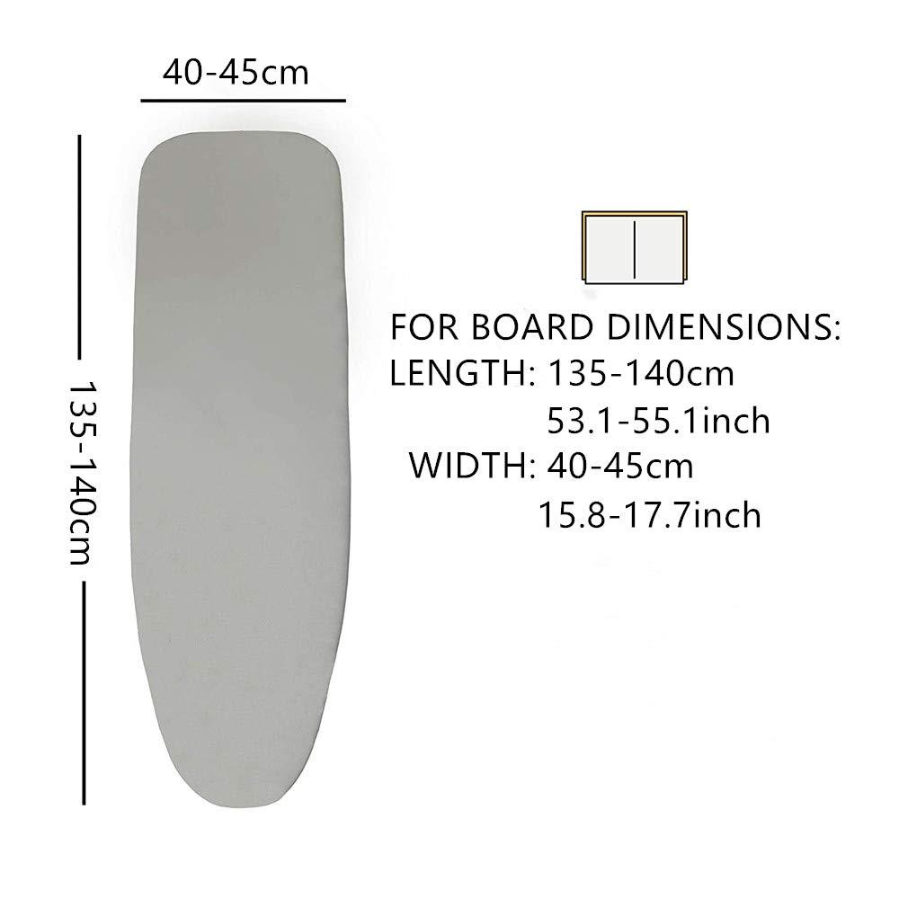Funda para Tabla de Planchar Universal, 135-140 100/% algod/ón para planchas de Vapor x cm,Negro 140x45 cm 40-45 tqwspad Funda para Tabla de Planchar