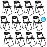 VINGLI 12 Pack Plastic Folding Chair, Indoor