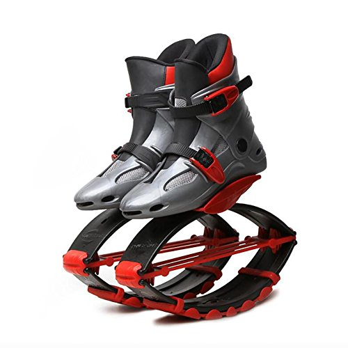 MIAO Fitness Shoes Children Gray Adult Outdoor Bouncing Elastic Sports Shoes Shoes Space Jumps Rebound red rawqrZ