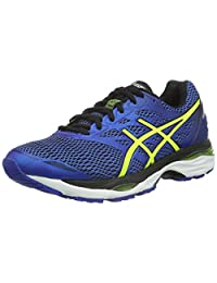 Asics Gel-Cumulus 18 Mens Running Shoes, Color- Blue/Yellow, US Shoe Size- 9 US / 8 UK