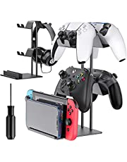 Controller Organizer for Desk, Display Controller Stand for PS5/ PS4/ Xbox Series /One X/S/ Nintendo Switch/ Pro Controller, OIVO Controller Desk Mount & Storage for 4 Packs Game Controller
