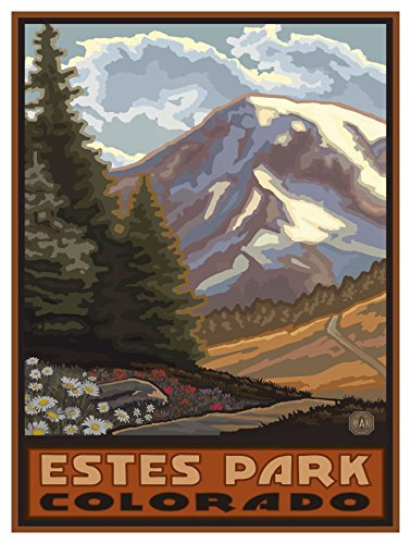 Estes Park Colorado Springtime Mountains Travel Art Print Poster by Paul A. Lanquist (9