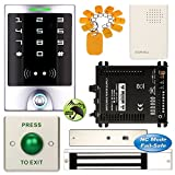 DIY Access Control Waterproof Keypad Office RFID Entry System + Electric Magnetic Door Lock NC Fail Safe
