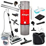 Allegro MU4500 Champion – 6,000 Square Foot Home Central Vacuum System 35 Foot Electric Hose For Sale