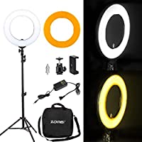 Zomei 14 LED Ring Light with Light Stand- 41W 5500K Dimmable Lighting Kit with Phone Adapter for Smartphone for Youtube Video, Makeup, Portrait