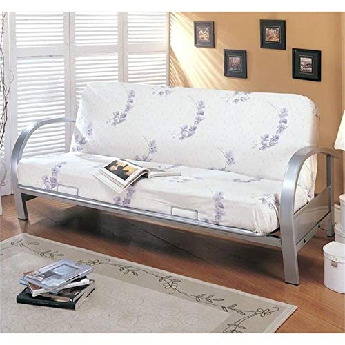 BOWERY HILL Metal Futon Frame in Silver by BOWERY HILL