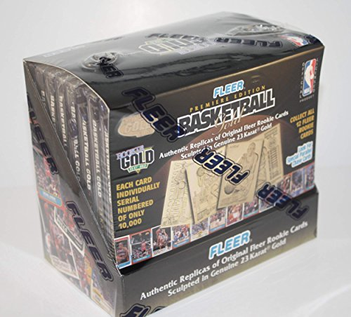 1997 FLEER BASKETBALL GOLD BOX Rookie 23KT Sculpted Card * Factory Sealed * ()