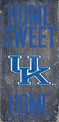"Kentucky Wildcats Wood Sign - Home Sweet Home 6""x12"""