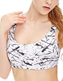 icyzone Women's Light Support Cross Back Wirefree