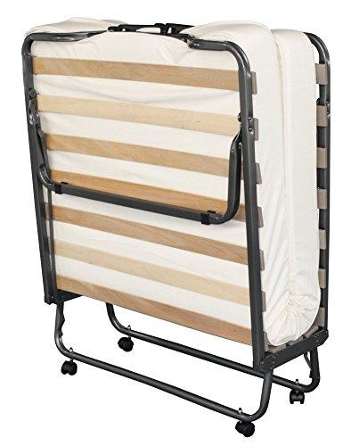 Gästebett, Klappbett mit hochwertiger Matratze 90 x 200 cm | inclusive Husse / Überzug