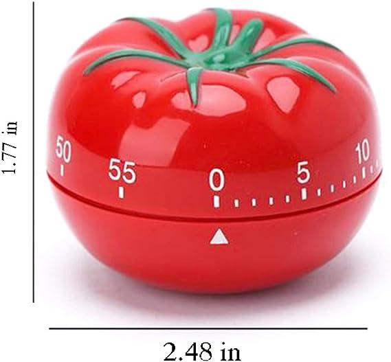 yyuezhi Tomate Forme Minuterie Portable Minuteur avec Alarme puissante Nouveaut/é Mignon Minuterie Durable Minuterie M/écanique ne N/écessite Pas de Batterie pour Sports Jeux Cuisine P/âtisserie Bureau