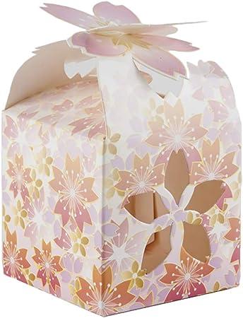 Lumanuby 50 x Roman Mesa Sakura Süße Cajas de Regalo para Boda Cumpleaños o Baby de duchas Flor Hueca Candy Cajas para Caramelos Chocolate Caramelos pequeños Regalos, Farbe B, 6x6x8.5cm: Amazon.es: Hogar