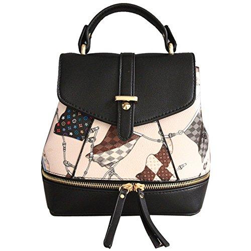 Eysee - Bolso mochila  de poliuretano para mujer beige