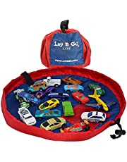 Lay-n-Go Building Block Mat, Building Block Bag Storage, Drawstring Bag, Playmat for Babies, Toddler's, Toy Storage Bag, Building Block Container