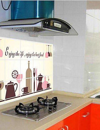 Cocina aceite/anti-Vinilo adhesivo de PVC para el medio ambiente: Amazon.es: Hogar