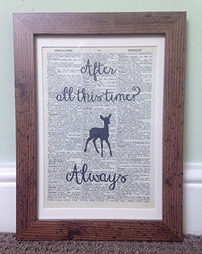 After All This Time Harry Potter Quote Vintage Dictionary Print Framed Picture homemade