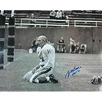 $69 » YA Tittle Autographed/Signed New York Giants 16x20 Photo HOF 13595 - Autographed NFL Photos
